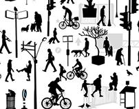 free vector file urban silhouette