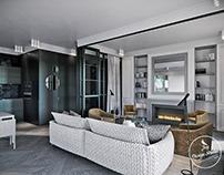 "Дизайн-проект квартиры ""Black & White"" в Варшаве"
