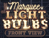 Marquee Light Bulbs - Front View by tvartworks