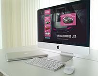 RENTOS - Vehicle Booked List (Desktop)