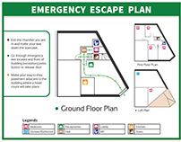 Escape Plan Blueprint Layout Design