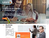 Talentus - Sitio web
