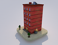3D city model Cinema4D