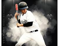 Baseball sports photography template