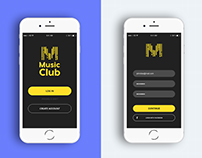 """Music Club""Mobile App Design"