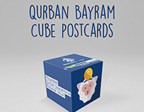 Cube postcards&Money Box  - Concept for Nikoil Bank
