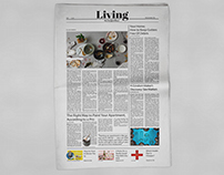 Living Section of a Newspaper