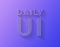 Daily UI Challenge   100 Days of UI Design