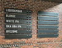 Cahaba Brewing Co. Taproom Signage