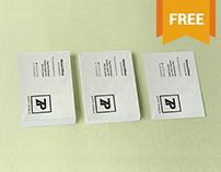 Free Stacked Visiting Card Mockup