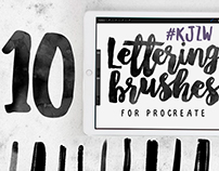 10 Lettering Brushes For Procreate App