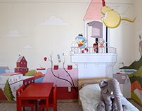 children's room mural