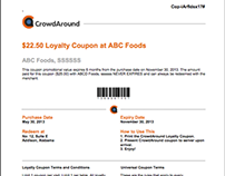 Loyalty Coupon - Collateral Design