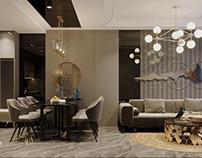Thiết kế nội thất căn hộ 2 phòng ngủ 70m2 Topaz Elite