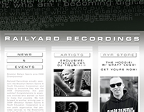 Railyard Recordings Website - Landing Page