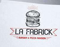 Logo burger et pizza maison, la fabrick Loolye labat