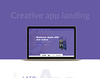 Creative app landing page