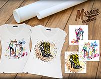 Playeras Mujer, Paola, Diseños Maraña Design