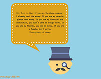 Voicemail greeting examples on behance funny business voicemail greeting m4hsunfo