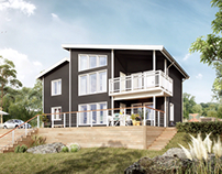 Mixed Swedish Houses - CGI