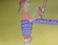 tentacles mural