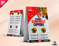 Discount offer Tent Menu Free PSD