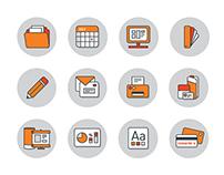 iO website icons
