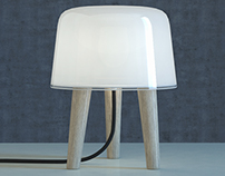 Milk table light by &Tradition