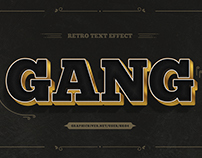10 Retro Text Effects - PSD