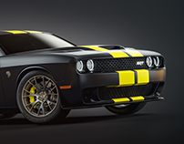 Dodge Challenger rendering project
