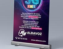 Gráfica publicitaria para Promoción 5G en Lona Albavoz