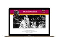 ORO schrijft geschiedenis - one pager website