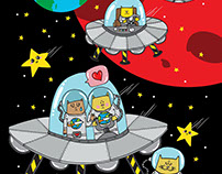 Space Cats (color)