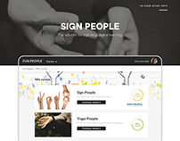 Sign People - UX Case Study