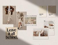 Realistic Natural Wall Mood Board Mockups PSD