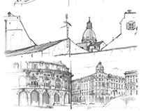 urban sketching - Italy