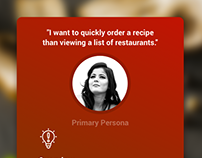 Food Delivery App - I Want Recipes Than Restaurants