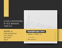 Square Bi-Fold Brochure Template