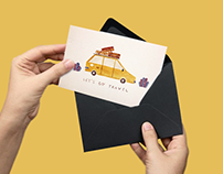 Let's go travel   Card