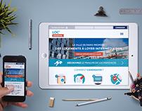 Loc'annonces responsive website