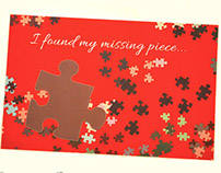 Valentine Puzzle Piece Greeting Card