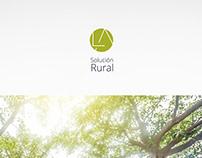 Carpeta. LA Solución Rural. Diseño gráfico