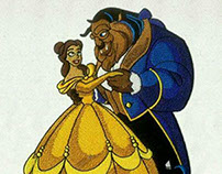 WALTZING BEAUTY AND THE BEAST EMBROIDERY DESIGN