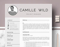Professional CV template for Ms Word & Mac Pages