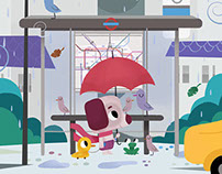 Bus Stop Illustration