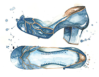 Watercolor Shoes