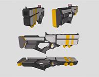 Terminus Cyberstar-Low Poly weapons
