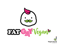 Fat Gay Vegan logo concept