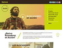 Bankia En Acción site. Obra social Bankia