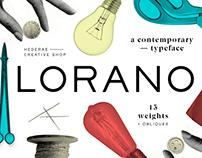 Lorano Typeface Family